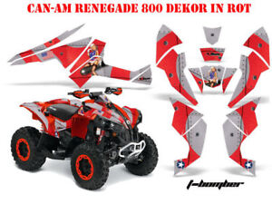 AMR RACING DEKOR KIT ATV CAN-AM RENEGADE, DS250, DS450, DS650 T-BOMBER DECOR B