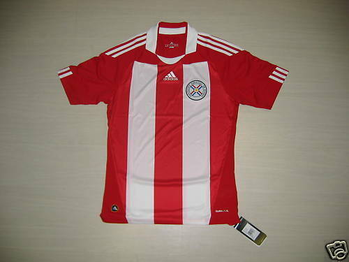 0624 ADIDAS PARAGUAY SIZE XL TSHIRT COMPETITION MATCH JERSEY SHIRT