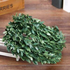 Artificial-Silk-Garland-Wreath-Green-Leaf-Fake-Flower-Decor-Vine-Home-S3Q9