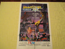 1987 Bravestarr The Movie animated original!  27x41 1 sheet movie poster FN