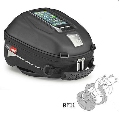 Givi ST602 Tanklock Tank Bag + Ducati Multistrada 1200 (10-17) Fitting Ring BF11