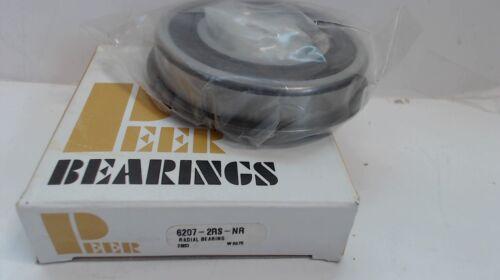 PEER BEARINGS RADIAL BEARING 6207-2RS-NR  NEW