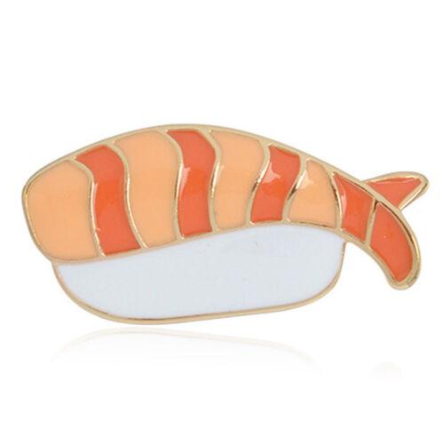 3x//lot émail Nourriture japonaise Sushi BROCHE PINS chemise col badges pins jewelryus