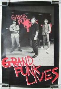 Grand-Funk-RAILROAD-Lives-1981-US-ORG-PROMO-Only-POSTER-Mark-Farner