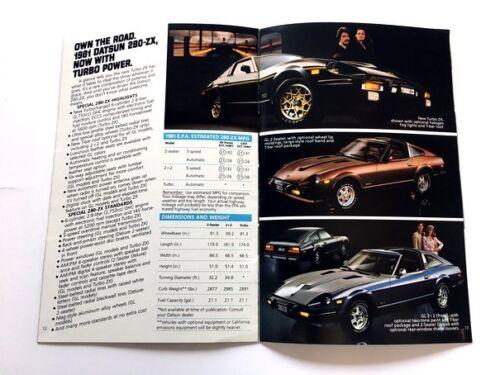 1981 Datsun Line Sales Brochure Catalog 210 310 510 200SX 280ZX Truck King Cab