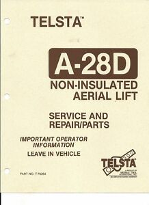Details about Telsta Bucket A-28D Boom Truck Service and Repair Manual  Download link Only