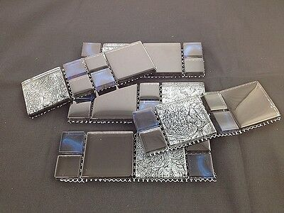 Luxury Stainless Glass Mosaic Border Tile 8mm Thick Sold Per Meter F015