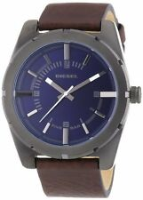 Diesel Men's DZ1598 Good Company Style Blue Dial Brown Leather Watch