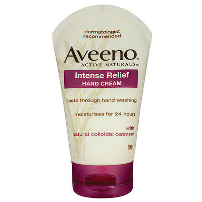 Aveeno Intense Relief Hand Cream 100g -  with Naturally Active Colloidal Oatmeal