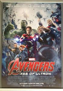 Cinema Poster Avengers Age Of Ultron 2015 One Sheet Plus Free Ultron Mini Ebay