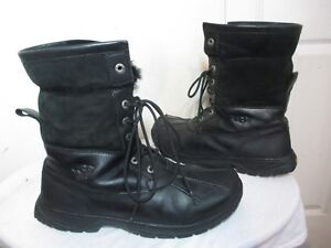 6e07c4f7638 Details about UGG AUSTRALIA BUTTE MEN SNOW BOOTS WATERPROOF EVENT LEATHER  BLACK 5521 SZ 11.5