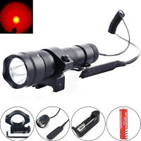 Ultrafire 502b 2000lm Red Cree Led 20mm Mount Tactical Flashlight Hunting Light