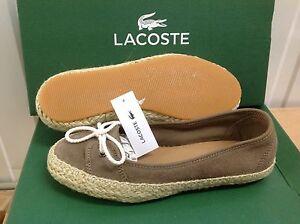 295ca69d7 Lacoste ELETA 3 Women s Suede Sneakers Plimsolls Casual Shoes