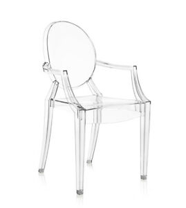 Details zu KARTELL sedia LOUIS GHOST con braccioli poltroncina design by  Philippe Starck