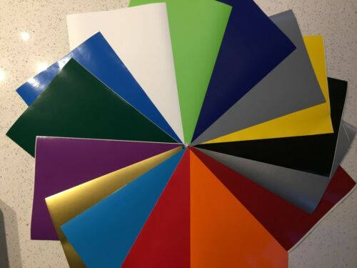 A4 Self Adhesive Vinyl Art /& Craft plotter cutter 24 colours BUY 3 /& GET 1 Free
