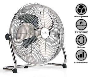 Bodenventilator-Windmaschine-stark-Umluftventilator-Boden-Ventilator-Chrom-Gross