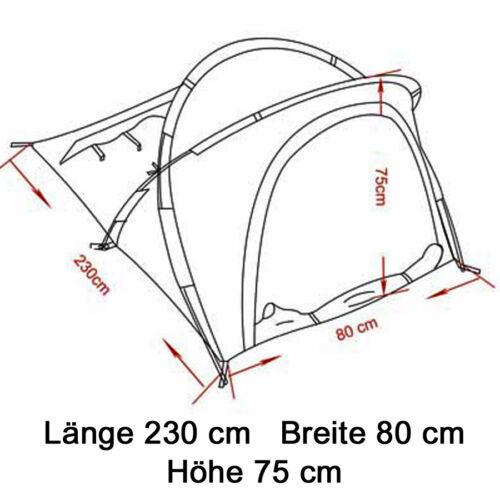 Moskitonetz 230 x 80 x 75 cm MFH Tunnelzelt Osser 1 Personen Zelt Einmannzelt m