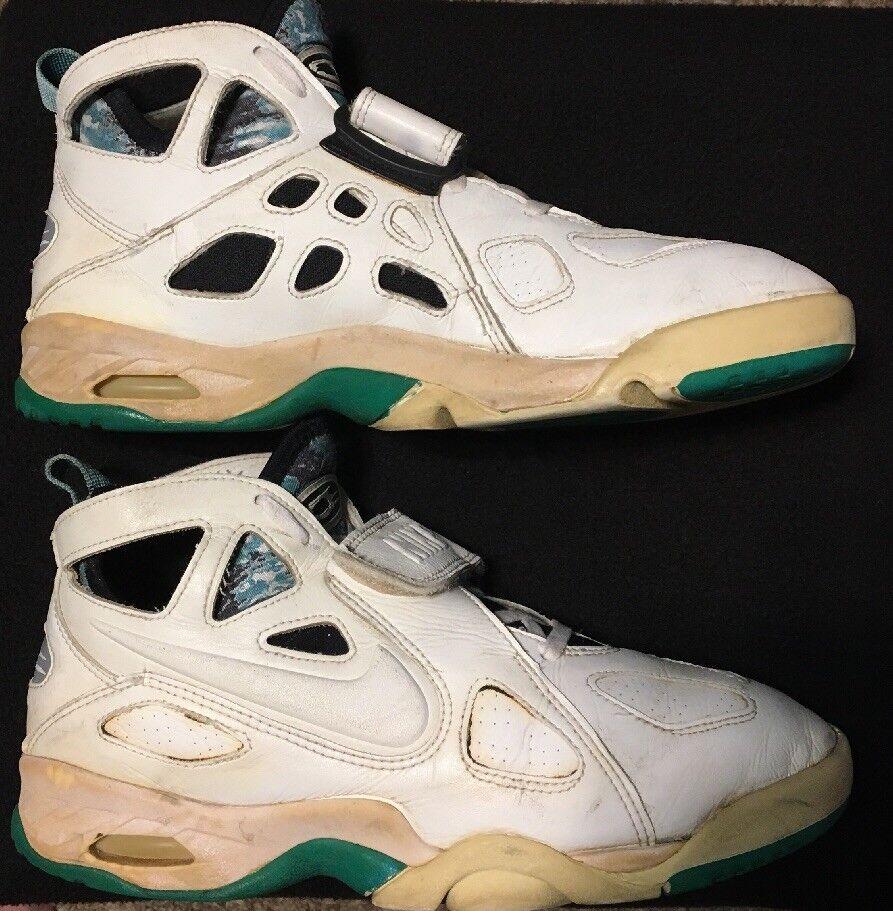 1993 OG Vintage Nike Air Tech Challenge Future sz 10 blanc Emerald Andre Agassi
