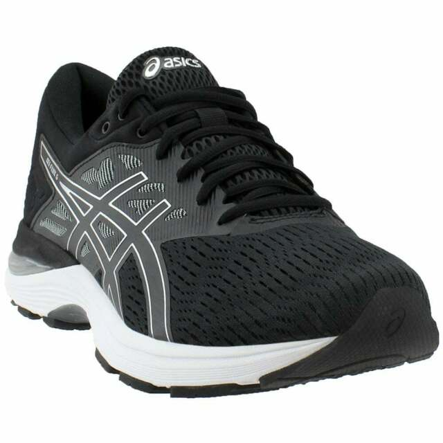 2c2c04f2 ASICS Size 11.5 GEL Flux 5 Black Silver Carbon Running SNEAKERS Mens Shoes