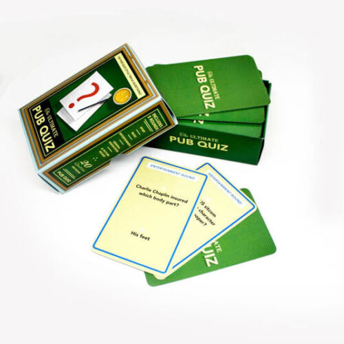 Ultimate Pub Quiz Cards Questions /& Answer Trivia Party Games Novelty Fun Family