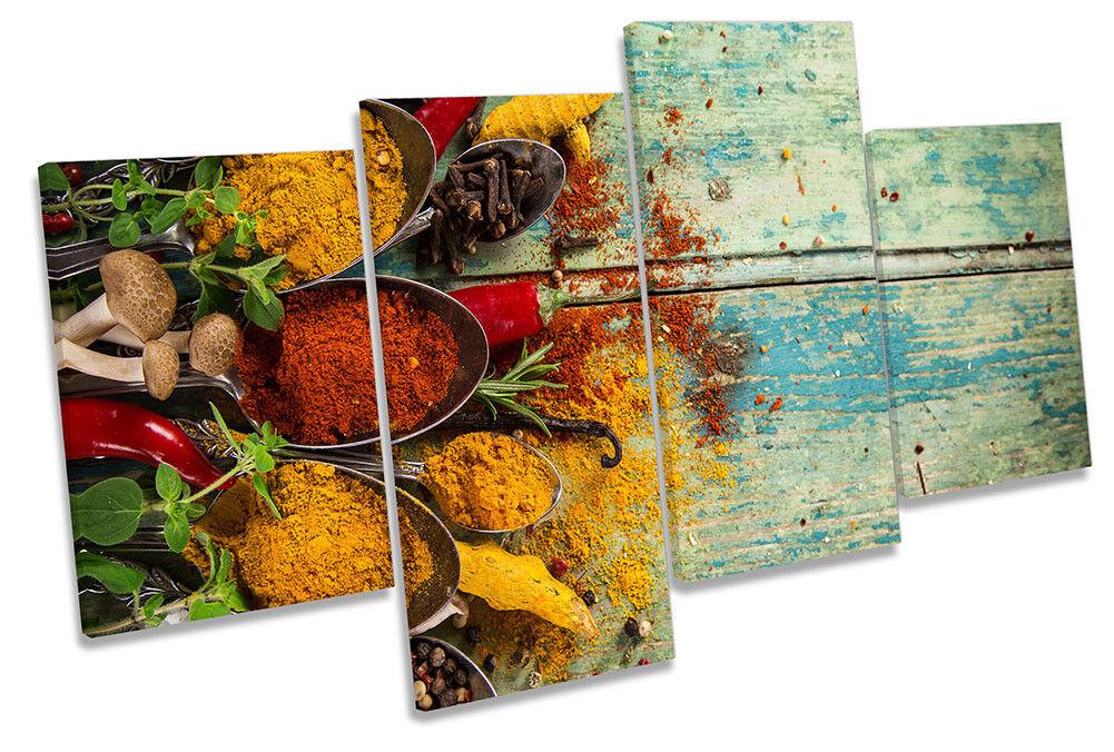 Erbe spezie Cibo Cucina incorniciato Multi stampa art. a muro
