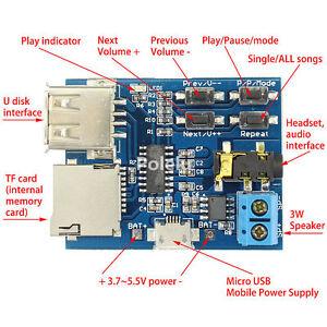 MP3-Format-Lossless-Decoder-Amplifier-Board-TF-Card-U-Disk-Audio-Player-Module