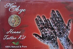 New-Age-Henna-Tattoo-Kit-Has-All-You-Need-Powder-Oil-Tattoo-Paper-Design-C60