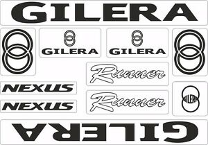 Gilera Runner Nexus Motorcycle Decals Stickers Bike Graphic Set Vinyl Logo Black Ebay