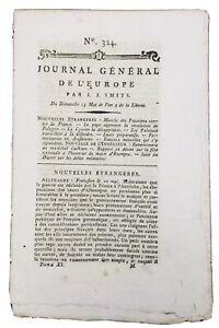 Journal-de-la-Revolution-Francaise-1792-Journal-General-de-l-Europe-Etampes