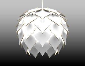 Lampadario Bianco Legno : Lampadario lampada sospensione paralume moderno in legno design