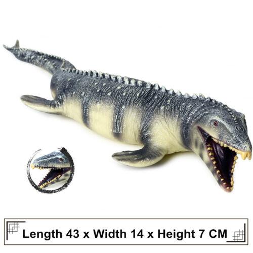 "17/"" Mosasaurus Mososaurs Figure Dinosaur Model Collector Kid Toy Animal Predator"