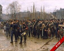 DUTCH COLONIAL SOLDIERS MILITARY MARCH WAR HISTORYART PAINTING CANVAS PRINT