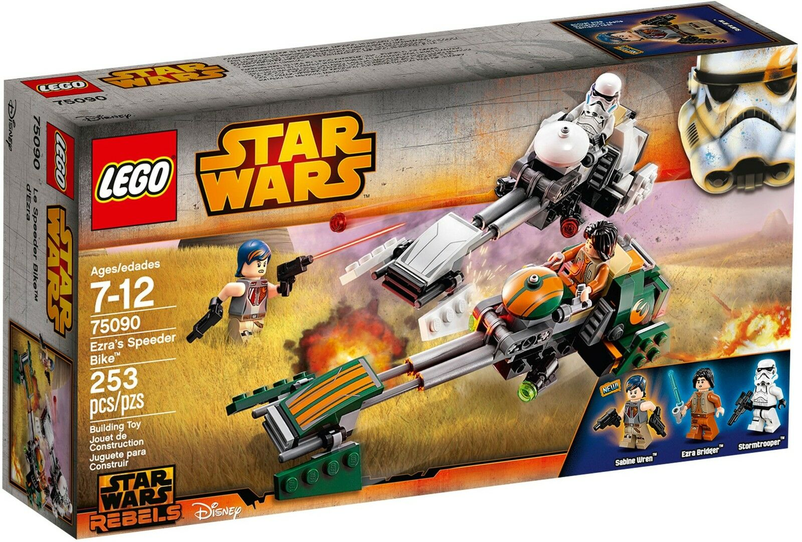 LEGO® Star Wars™ 75090 Ezra's Speeder Bike™ NEU OVP NEW MISB NRFB