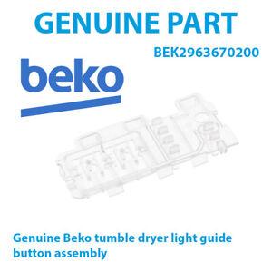 Beko DC7110S DC7110W DC7112W Genuine Tumble Dryer Light Guide Panel 2963670200