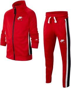 Détails sur Boys Youth Nike Polyester Survêtement Rouge Blanc Noir BV3603 657 Taille XS _ M _ L _ XL afficher le titre d'origine