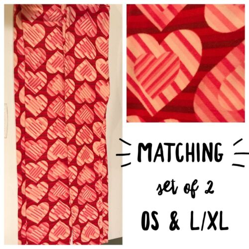 NWT LuLaRoe Matching Mommy /& Me Sibling Valentine Leggings OS TC TWEEN L//XL S//M
