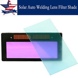 """New 4-1//4/"""" x 2/"""" solar Auto Darkening Welding Lens Filter Shade For Helmet Shield"""