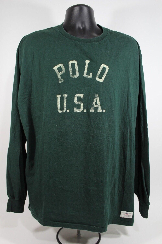 Vintage RALPH LAUREN Polo Sport Long Sleeve Shirt Größe XL X-Large
