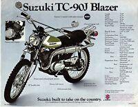 1972 Suzuki Tc-90j Blazer 89cc Motorcycle Sales Brochure, (reprint) $5.00