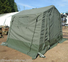British Army 9x9 WOLF Land Rover Canvas Tent COMPLETE! Gazebo Camping Military