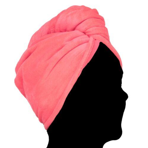 Pealu Moelleux turban-serviette 2x Weft kopfhandtuch en Rouge