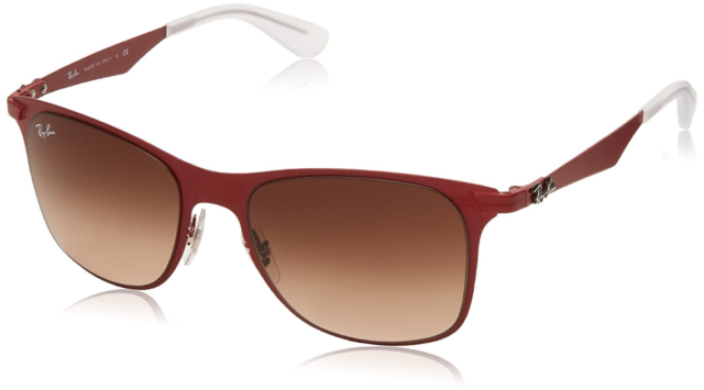c6b9909ba0 Ray Ban Rb3521 Wayfarer Flat Metal 162 13 Red Gradient Sunglasses 52mm 100  UV
