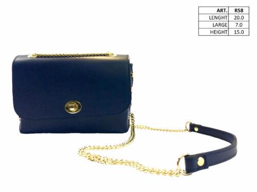 Spalla Da Italy Vera Donna Pelle In Bag Milano Lusso Made Blu YwzqOqx