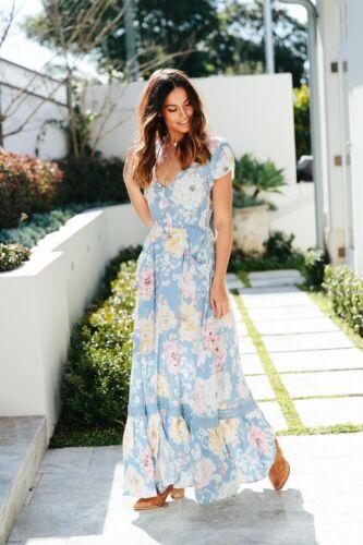 JAASE WOMEN/'S CARMEN MAXI DRESS RILEY PRINT SIZES XS-XL