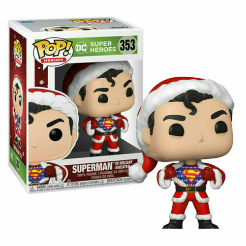 DC COMICS: HOLIDAY FUNKO POP! SUPERMAN WITH SWEATER 353