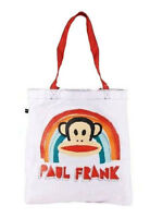 Paul Frank Julius White Core Rainbow Tote Shopping Bag