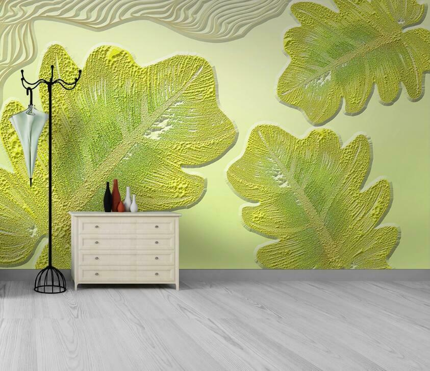 3D Fresh Leaves N3143 Wallpaper Wall Mural Removable Self-adhesive Sticker Amy