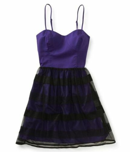 AEROPOSTALE ~ New NWT Size Small ~ Black Tiered Lace Molded BUSTIER Style Dress