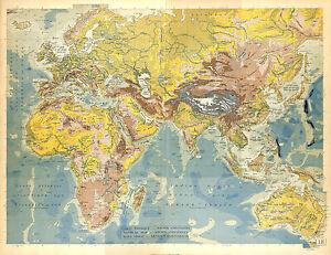 BIG-SIZE-PHYSICAL-MAP-CARTE-ATLAS-1950-AFRICA-ASIA-EUROPE-AUSTRALIA-OCEANIA