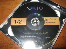 Sony Vaio VGN-A600 Series Laptop Recovery Disc